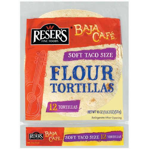 "Baja Cafe Flour 8"" Soft Taco Size Tortillas, 12 ct"
