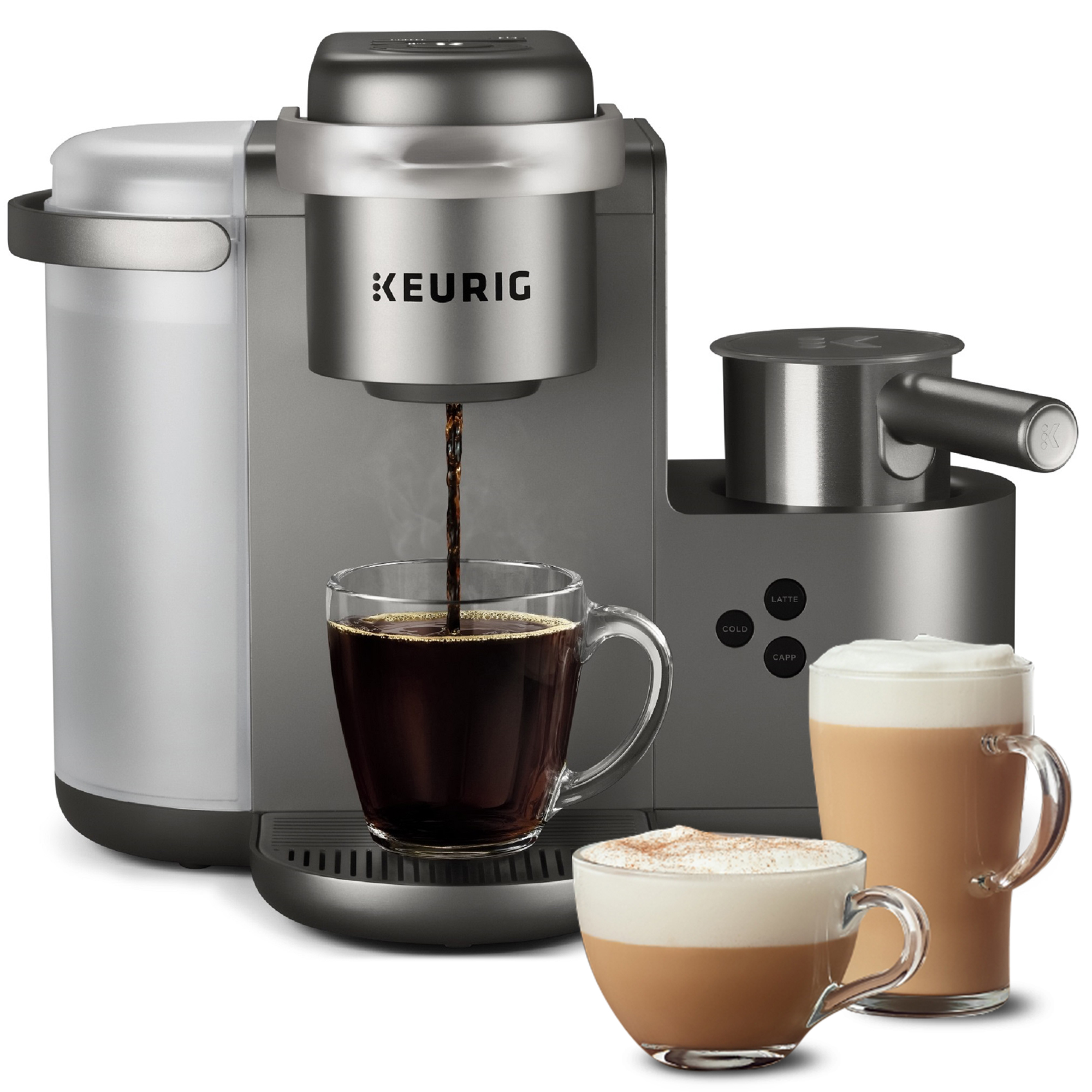 Keurig K-Cafe Special Edition Single Serve K-Cup Pod Coffee, Latte and Cappuccino Maker, Nickel
