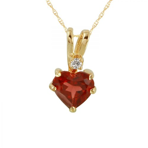 Foreli 0.72CTW Tourmaline And Diamond 14K Yellow Gold Necklace by Generic
