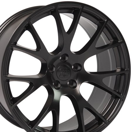 OE Wheels 20 Inch SRT8 Hellcat Style | Fits Dodge Challenger Charger SRT8 Magnum Chrysler 300 | DG15 Satin Black 22x9 Rim | Hollander 2528