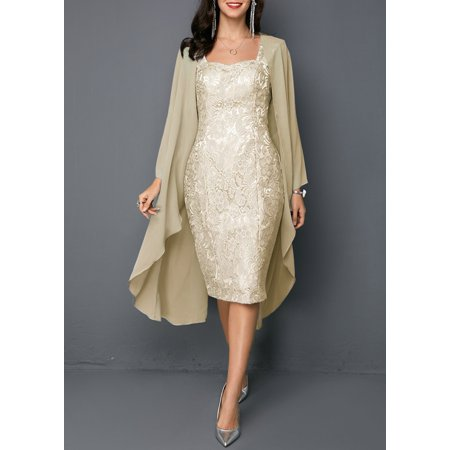 Knee Length Mother of The Bride Two Pieces Set