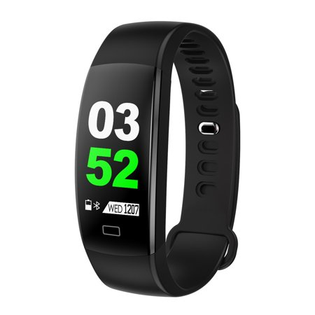 Tuscom Smart Color Screen Blood Pressure Exercise Heart Rate Pedometer  Smart Watch