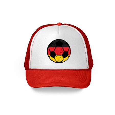 Awkward Styles Germany Soccer Ball Hat German Soccer Trucker Hat Germany 2018 Baseball Cap Germany Trucker Hats for Men and Women Hat Gifts from Germany German Baseball Hats German Flag Baseball Hat - Soccer Cap