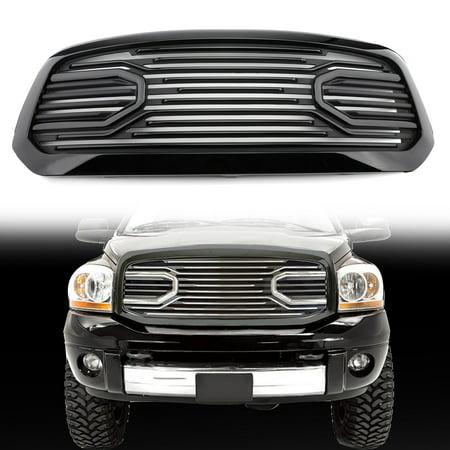 Big Horn Chrome Packaged Grille+ Chrome Shell For 2013-2018 Dodge Ram (2011 Dodge Ram 1500 Big Horn Edition)