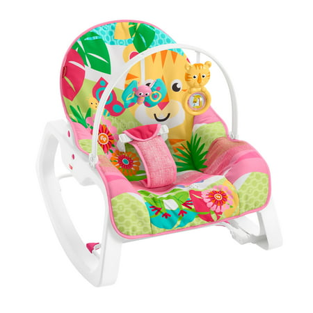 Fisher-Price Infant-To-Toddler Rocker, Teal Safari with Removable
