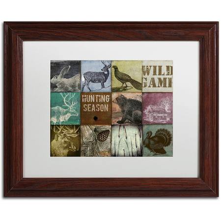 Trademark Fine Art  Cabela Hunting Season 12  Canvas Art By Color Bakery White Matte  Wood Frame