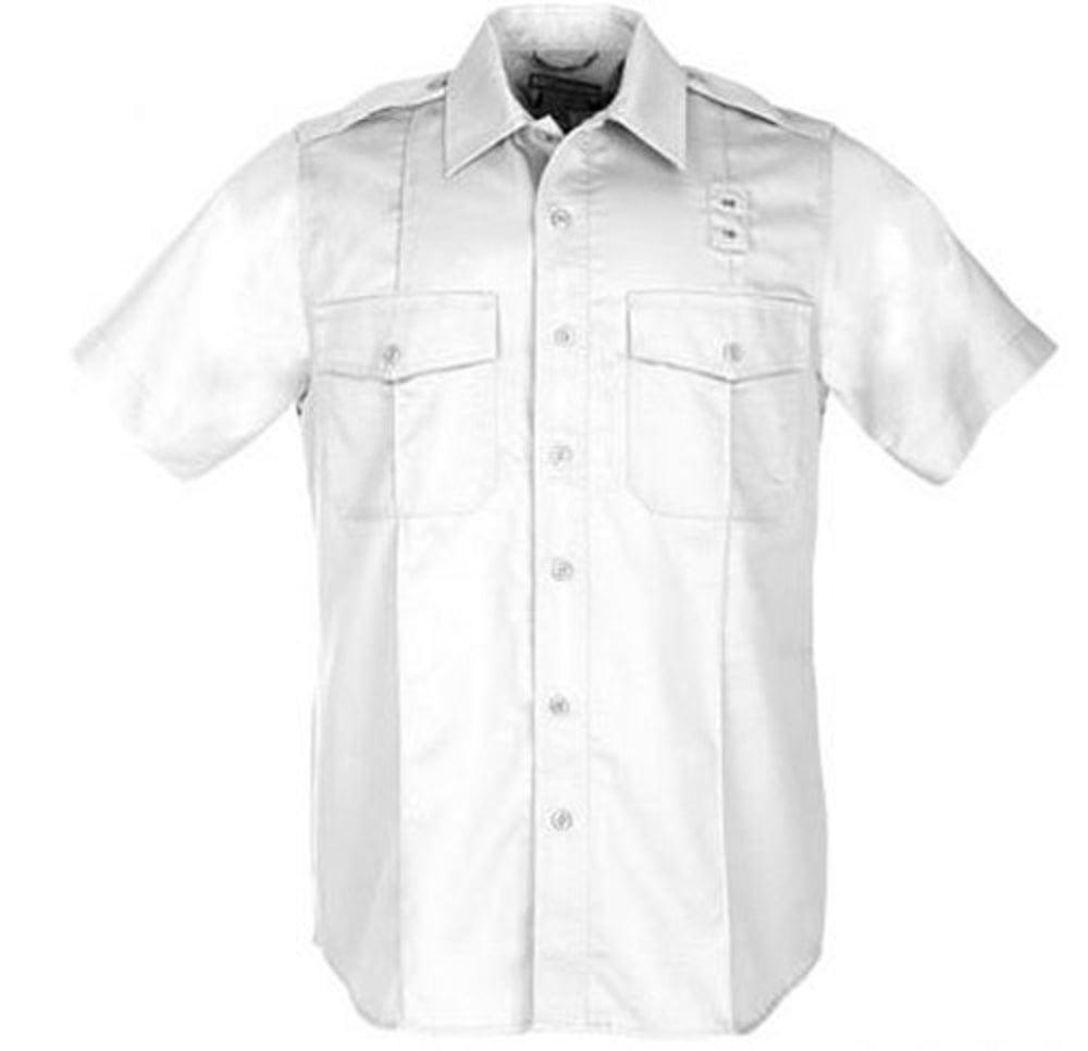 5.11 Tactical Men's Twill PDU Short Sleeve Class-A Shirt, White