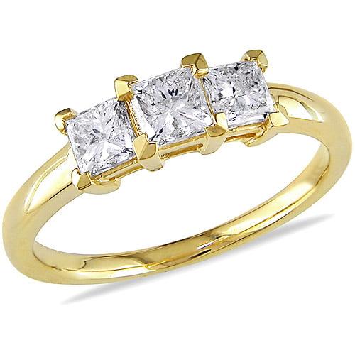 miabella 1 carat t w princess cut 14kt yellow