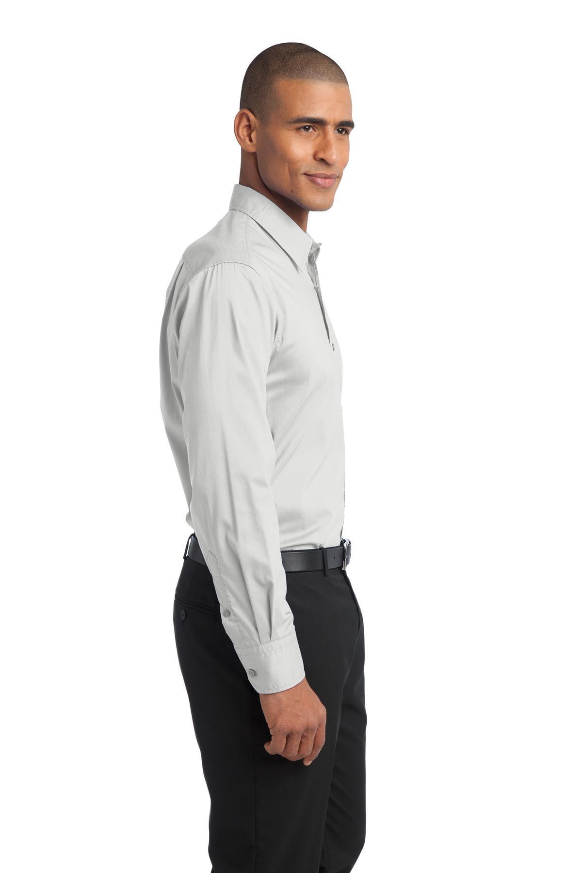 0f3e24ee24b2 Port Authority - Port Authority Men s Long Sleeve Stretch Poplin Shirt -  S646 - Walmart.com