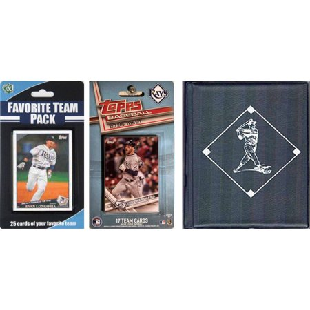 Sports Prayer Card - C & I Collectables MLB Tampa Bay Rays Licensed 2017 Topps Team Set and Favorite Player Trading Cards Plus Storage Album