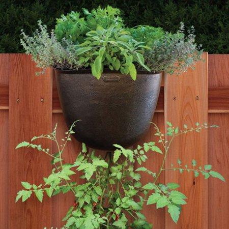 - Akro-Mils Vertical Hanging Garden Planter - Bronze - Set of 5