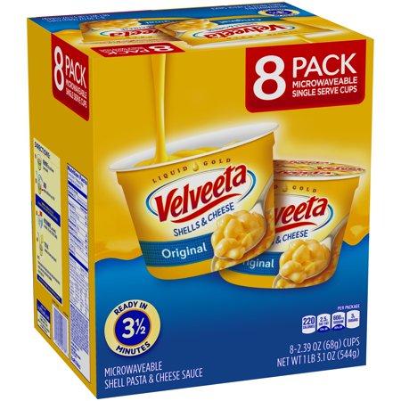 Velveeta Shells And Cheese Original Single Serve Cups  2 39 Ounce  8 Count