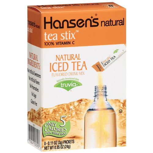 Hansen's Natural Tea Stix Iced Tea Flavored Drink Mix, .11 oz, 8ct