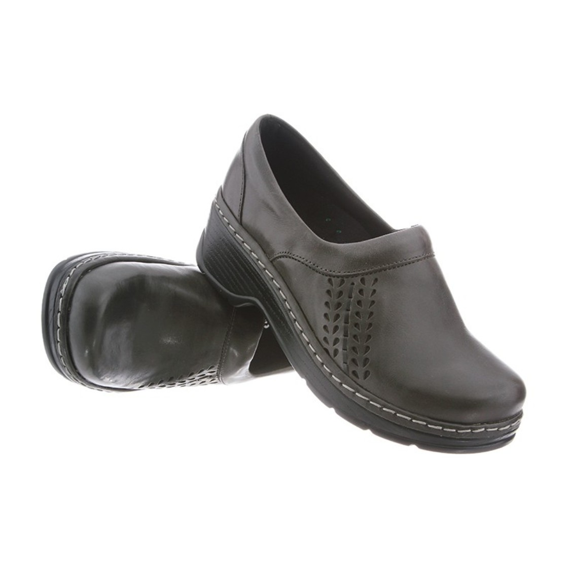 Klogs Sydney Women's Leather Supportive Clog Slate by Latitudes Inc.