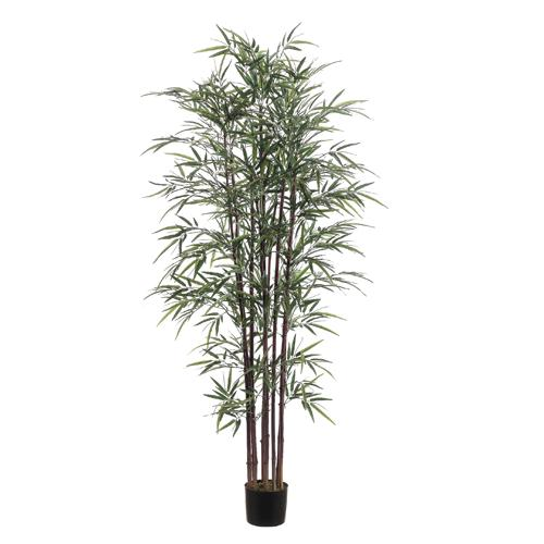 Pack of 2 Artificial Slim Natural Bamboo Potted Trees 6'