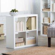 Hudson 4 Cube Bookcase - White