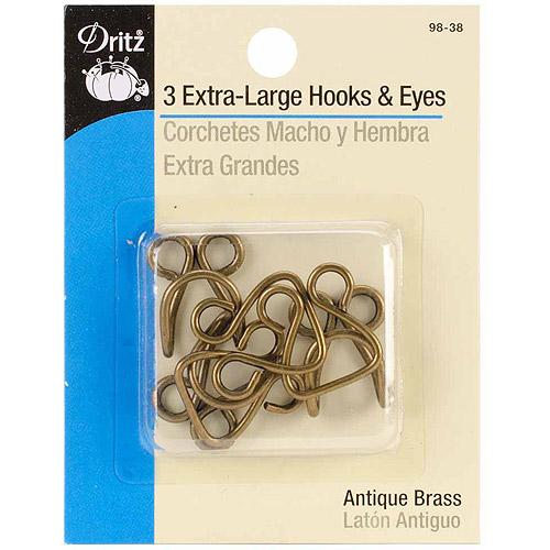 Extra-Large Hook and Eyes, 3pk