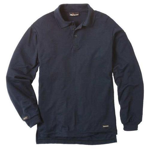 WORKRITE 262TK67NB FR Regular Sleeve Shirt, Navy, LGR, Button