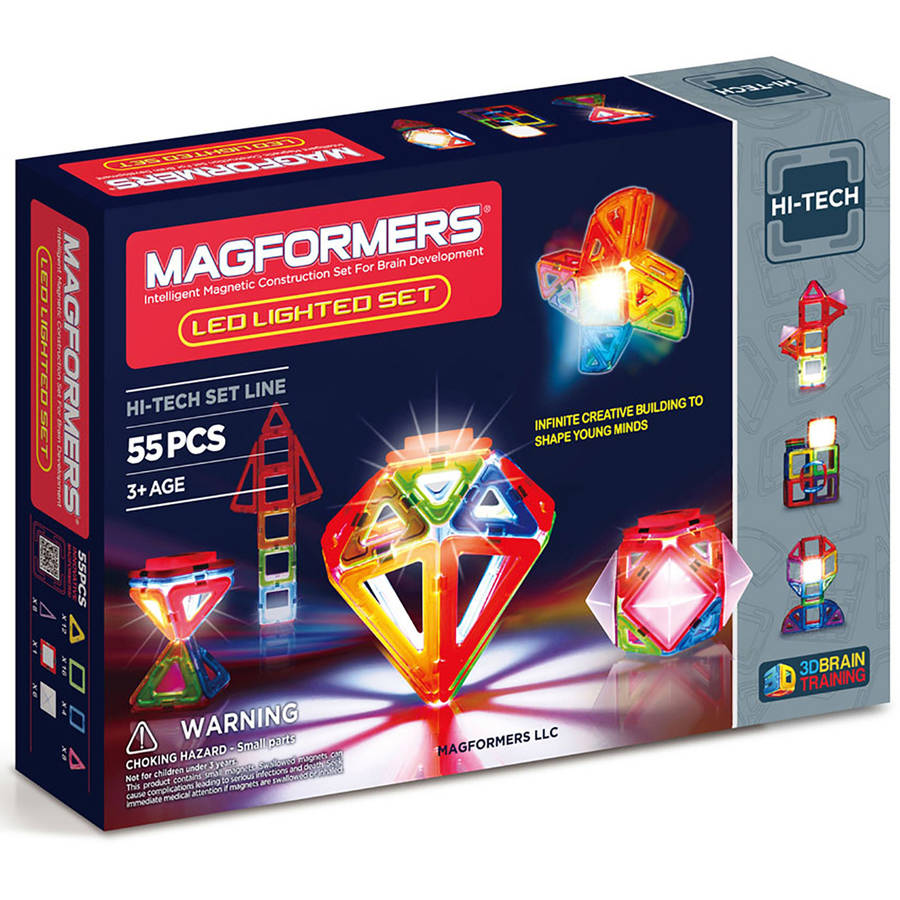 Magformers Light Show 55-Piece Magnetic Construction Set by Magformers
