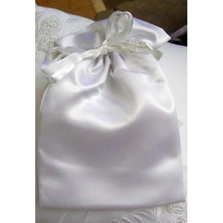 White Satin Wedding Favor Bags (6 bags) Pouches ,2PK - Walmart.com