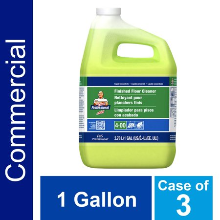 Floor Cleaner from Mr. Clean Professional, Bulk Liquid Concentrate fro Hardwood, tile or Terrazo Floors, Commercial Use, Lemon Scent, 1 Gal. (Case of