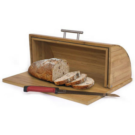 Home Basics Bread Box, Bamboo