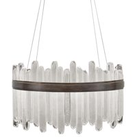 Pendant LIOR 40-Light Patinated Bronze 2700k Glass Polished Nickel Metal FA-1281