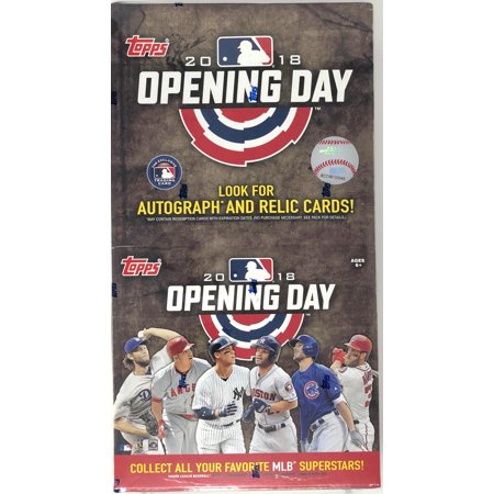 2018 Topps Opening Day Baseball Super Pack 24 Packs Per Box