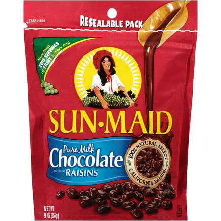 Sunmaid Milk Chocolate Raisins Resealable, 9 Ounce (6 (Milk 6 Ounce Case)
