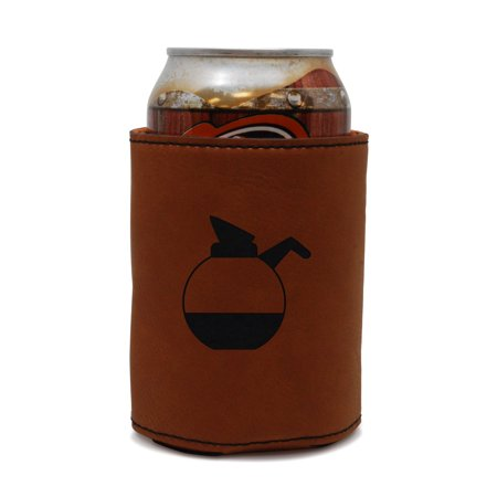 Coffee Pot Leather Can Sleeve, Beer Sleeve, Beer Cooler, Beer Hugger