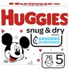 Huggies Snug & Dry Baby Diapers, Size 5, 76 Ct