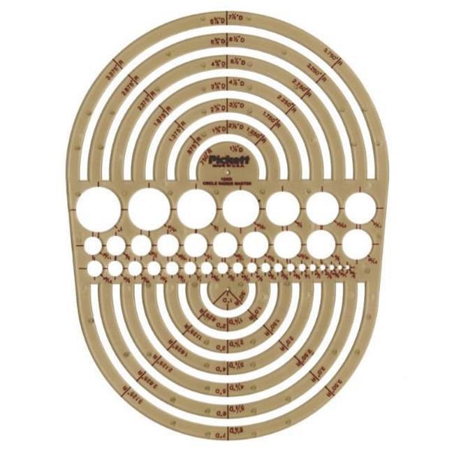 Alvin 1202I Temp.  Circle Radius Master