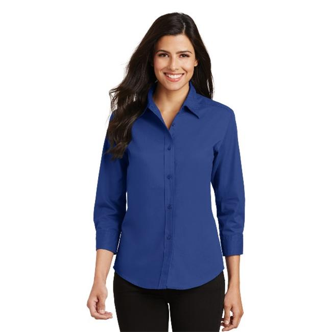 Port Authority® Ladies 3/4-Sleeve Easy Care Shirt. L612 Royal Xs - image 1 of 1