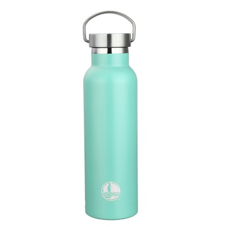Vacuum Water Bottle,KINGSO 600ml Stainless Steel Sports Bottle Insulation Water Bottle with Metal buckle For Outdoor Sports, Work Trip, Home,Camping Hiking