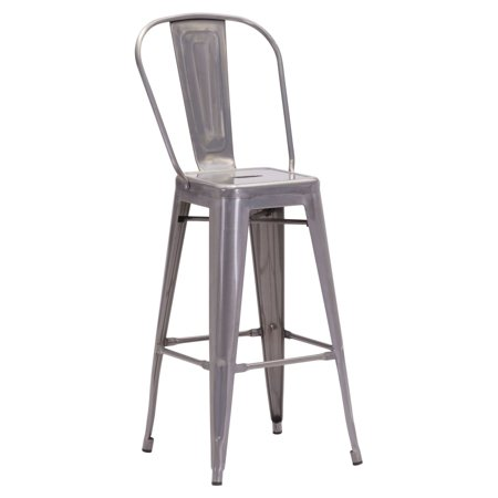 Elio Bar Chair Gunmetal  Set Of 2
