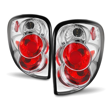 Fits 01-07 Caravan Chrysler Town & Country Chrome Tail Brake Lights Lamps Pair