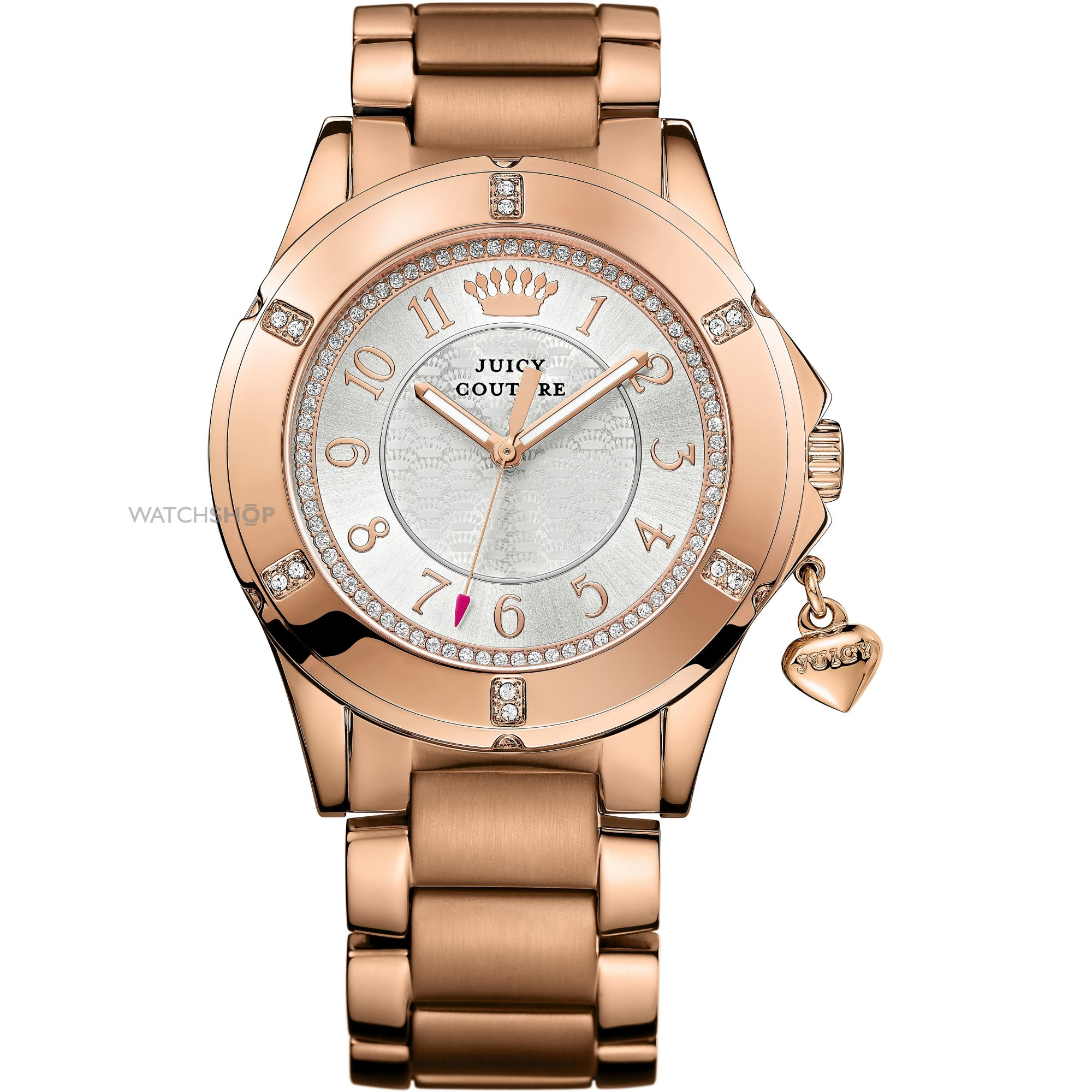 Juicy Couture Womens 1901201 Rich Girl Analog Display Quartz Rose