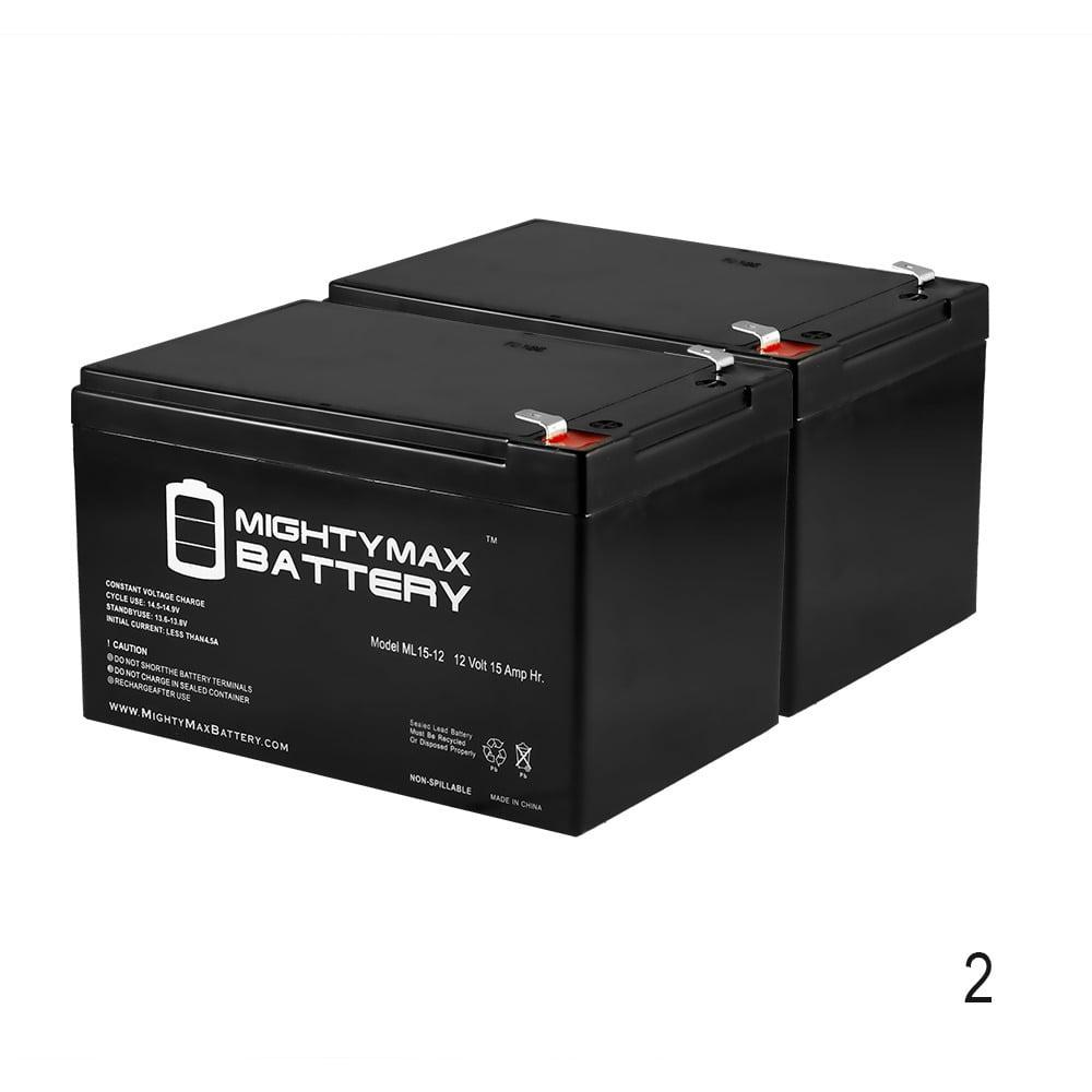 12V 15AH F2 Battery for GOAL ZERO YETI 150 SOLAR GENERATOR - 2 Pack