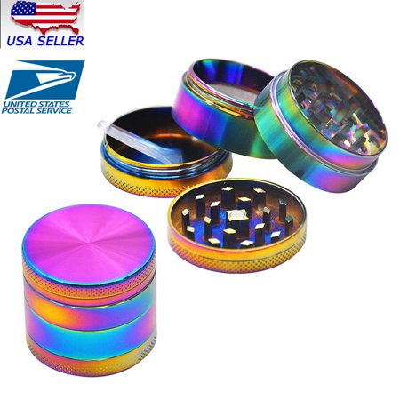 Metal Tobacco Herb Grinder - 4 Piece Herb/Spice/Alloy Smoke Crusher 40mm Tobacco Grinder Colourful