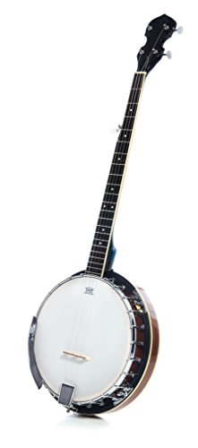 5 String Resonator Beginner Banjo with 24 Brackets | Closed Back and Geared 5th Tuner |... by Milliard