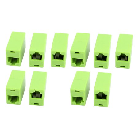 - 10 Pcs RJ45 8P4C Dual Port Network Straight Through Cable Joiner Coupler