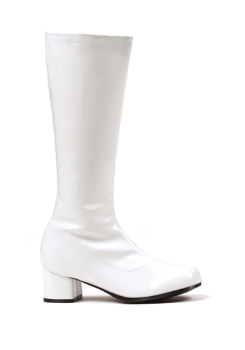 "Dora Girls White 1.75"" Go Go Boots by ELLIE SHOES"