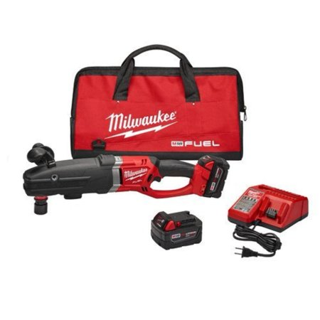 MILWAUKEE M18 FUEL 18-VOLT LITHIUM-ION CORDLESS SUPER HAWG RIGHT ANGLE DRILL KIT WITH QUIK-LOK, 1/2 IN.