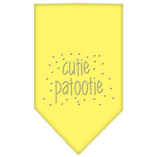 Cutie Patootie Rhinestone Bandana Yellow Large