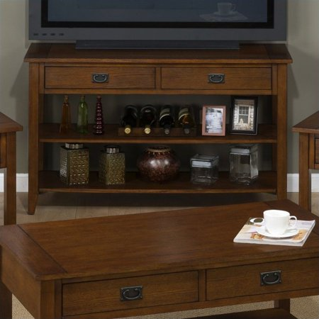 Jofran 1032 Series Media Table with Straight Legs in Mission Oak