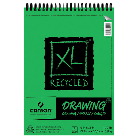 Canson XL Recycled Drawing Pad, 18in x 24in, 30 Sheets/Pad