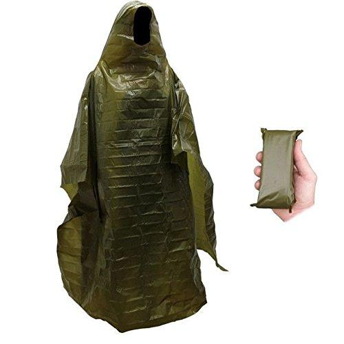 Lightweight Rain Gear Poncho Emergency Survival Cover Shelter Norwegian Military Surplus by BBS