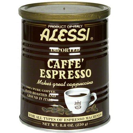 Alessi Coffee - Alessi Caffe' Espresso 100% Pure Ground Coffee, 8.8 oz, (Pack of 6)