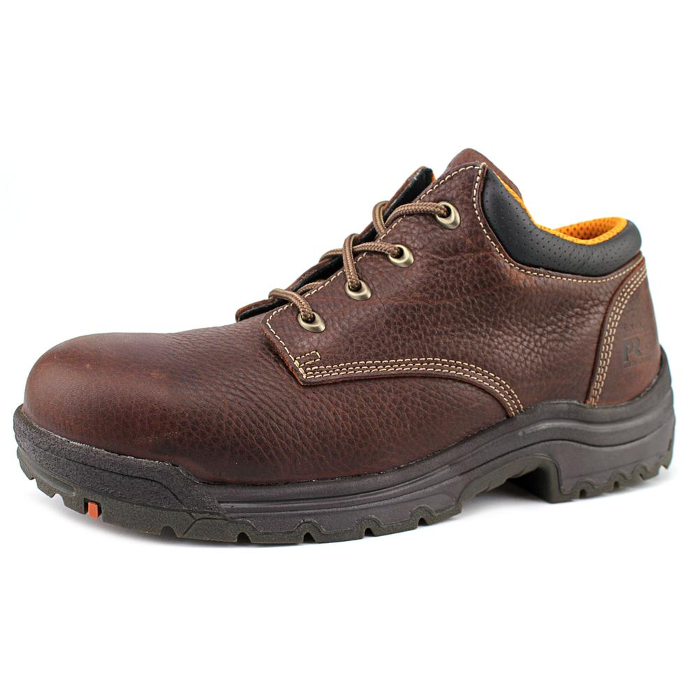 Timberland Pro Titan Oxford Men W Steel Toe Leather Brown...