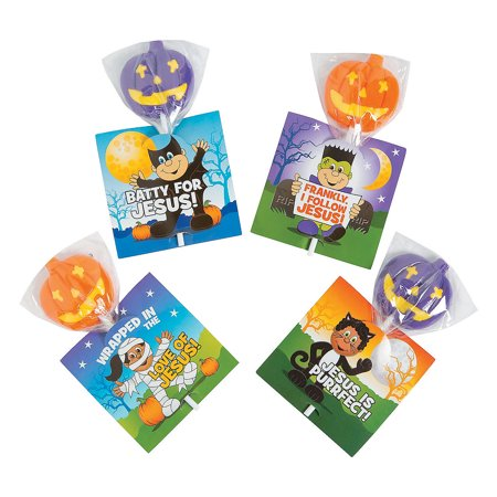 Fun Express - Little Boolievers Suckers On CardS-24pc for Halloween - Edibles - Sucker & Pop - Character Suckers - Halloween - 24 - Ring Pops Halloween
